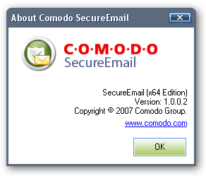 Comodo SecureEmail 64bit version