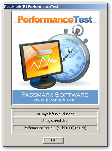 PassMark PerformanceTest 64 bites verzió